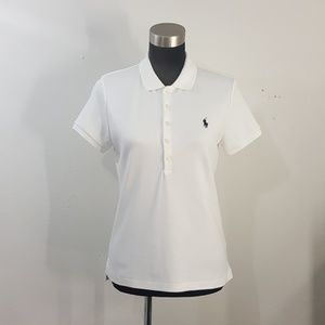 Ralph Lauren Polo Sport White Polo Shirt Slim Fit